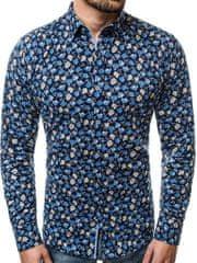 BUĎCHLAP Atraktívna granátová pánska košeľa V/K26