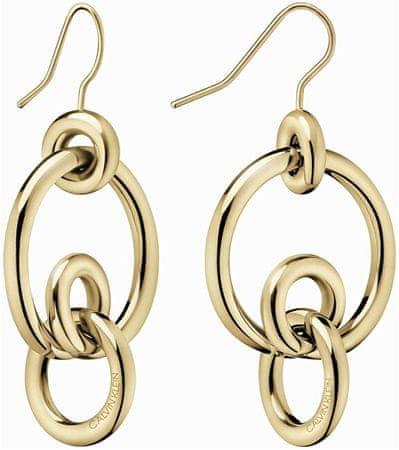 Calvin Klein Stílusos aranyozott fülbevaló Clink KJ9PJE100200