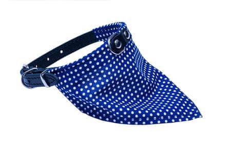 BAFPET Obojek+bavlněný šátek PUNTÍK 26 cm černá