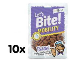 Brit Lets Bite Mobility Jutalomfalat, 10x150 g
