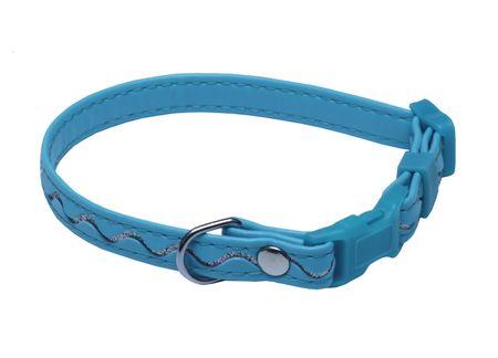 BAFPET obroża SREBRNE FALE 20-35 cm niebieska