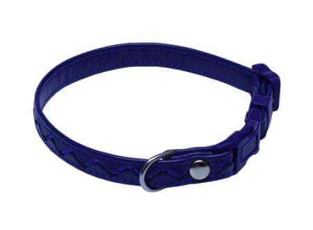 BAFPET Obojek STŘÍBRNÉ VLNKY 20-35 cm tmavě modrá