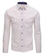 BUĎCHLAP Biela pánska košeľa v elegantnom vzore