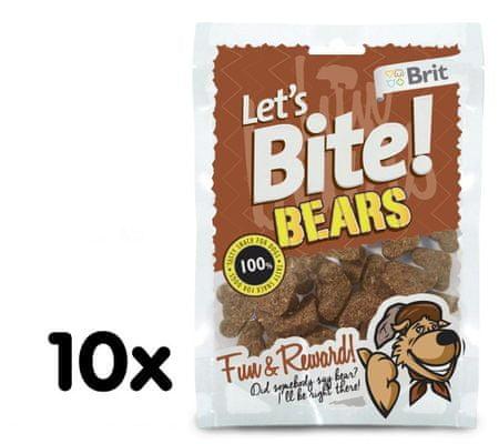 Brit Lets Bite Bears Jutalomfalat, 10x150 g