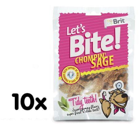 Brit Lets Bite Chompin' Sage Jutalomfalat, 10x150 g