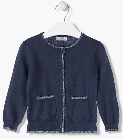 Losan dívčí svetr s knoflíky 92 tmavě modrá