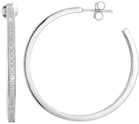 Beneto Srebrni uhani kroži s kristali AGUP1179 srebro 925/1000