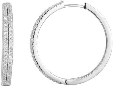 Beneto Srebrni uhani kroži s kristali AGU1154 srebro 925/1000