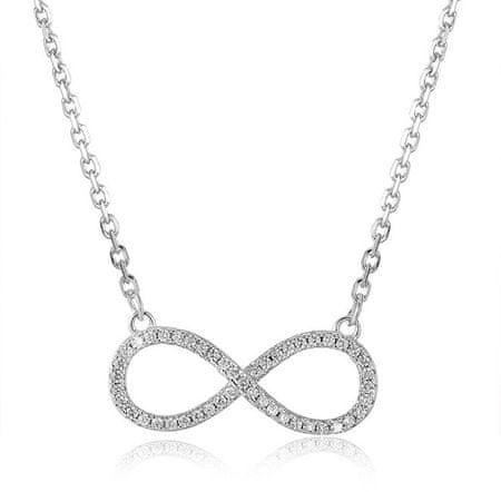 Beneto Stříbrný náhrdelník s nekonečnem AGS778/48 stříbro 925/1000