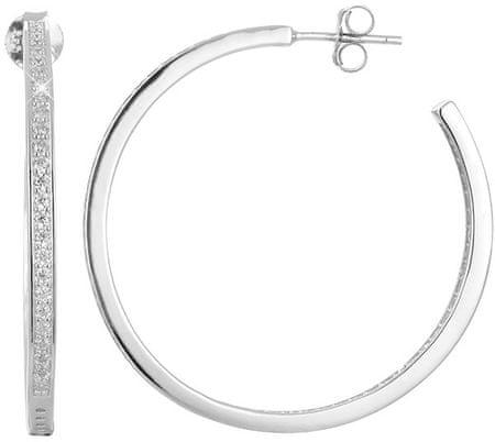 Beneto Srebrni uhani s kristali AGUP1180 srebro 925/1000