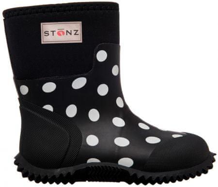 Stonz dekliški škornji West Polka Dot, 27, črni