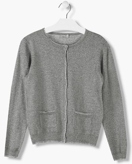 Losan dívčí svetr s knoflíky 128 šedá