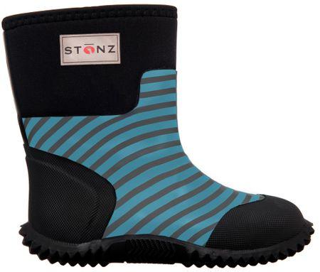 Stonz čizme za dječake West Stripes, 27, crne/plave