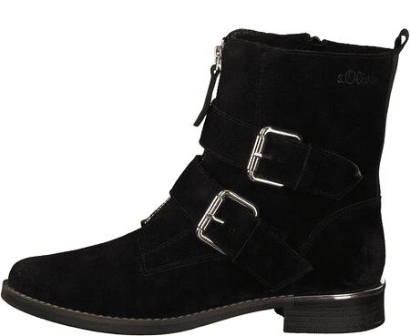 s.Oliver dámská kotníčková obuv 25344 36 černá