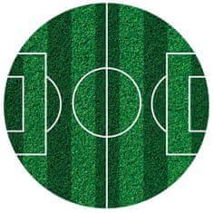 Dekora Fondánový list fotbalové hřiště kulaté 16cm