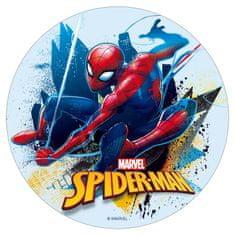 Dekora Fondánový list na dort Spiderman ve městě 16cm
