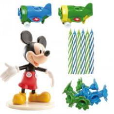 Dekora Figurka na dort Mickey svíčky a letadla