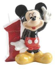 Dekora Dortová svíčka Mickey 6,5cm číslo 1