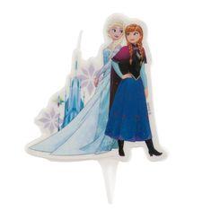 Dekora Dortová svíčka ledové království 8cm Elsa a Ana