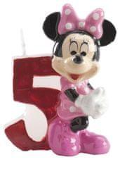 Dekora Dortová svíčka Minnie 6,5cm číslo 5