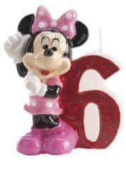 Dekora Dortová svíčka Minnie 6,5cm číslo 6