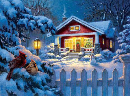 SunsOut Puzzle 1000 db Corbert Gauthier - Christmas Bungalow