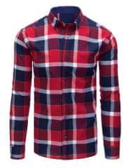 BUĎCHLAP Červeno-granátová kockovaná košeľa