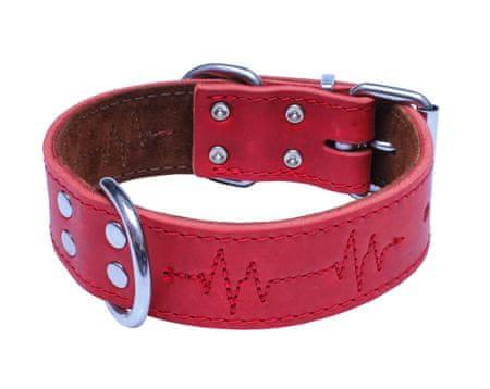 BAFPET Obojek EKG, mastná kůže 75 cm červená