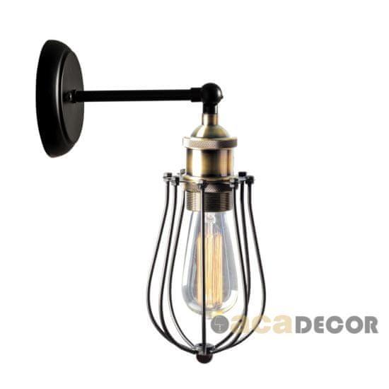 ACA ACA Lighting Vintage nástěnné svítidlo KS2047W1BK
