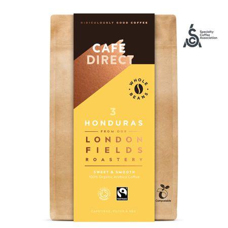 Cafédirect BIO zrnková káva Honduras SCA 83 s tónmi karamelu a orieškov 200 g