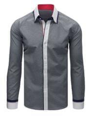 BUĎCHLAP Trendová čierna košeľa s dlhým rukávom