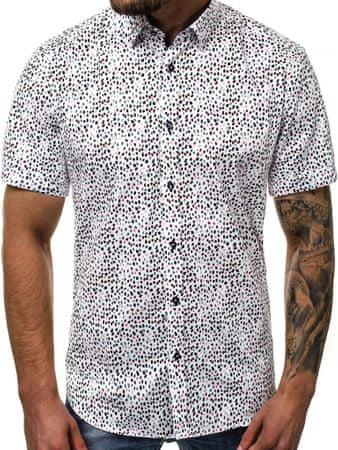 BUĎCHLAP Vzorovaná pánska košeľa V/K107 XL