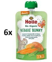 Holle Bio pyré mrkev - batáty - hrášek 6 x 100g