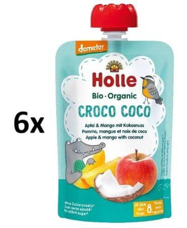 Holle Bio ovocné pyré jablko-mango-kokos - 6 x 100 g