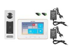 Hikvision DS-KIS800S, bezdrátová WiFi sada videotelefonu a dveřní stanice se čtečkou čipů, Hikvision