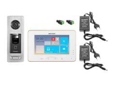 Hikvision DS-KIS801SF, bezdrátová WiFi sada videotelefonu a dveřní stanice se čtečkou otisku prstu, Hikvision