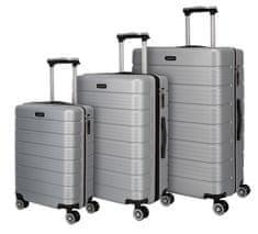 Travelite Soho 4w S,M,L Silver – sada 3 kufrů