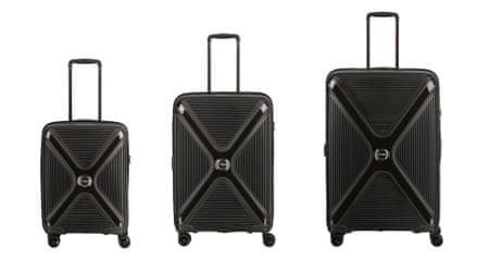 Titan Paradoxx 4w S,M,L Black Uni – sada 3 kufrů