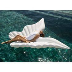 DIDAK Nafukovací lehátko Mega andělská křídla bílá 250 x 130 x 15 cm