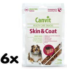 Canvit suplement diety dla psa Snacks Skin & Coat - 6x 200 g