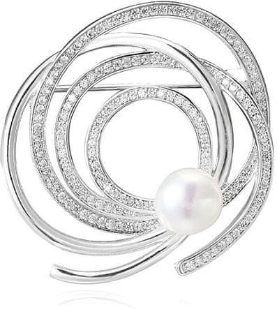 Beneto Ezüst csillogó bross valódi gyöngy AGBR1 ezüst 925/1000
