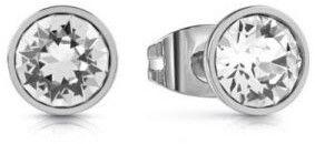 Guess Kolczyki sztyftyz przezroczystym kryształ UBE28025