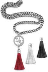 Guess Módní náhrdelník s vyměnitelnými přívěsky UBS78005