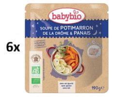 Babybio Dýňová polévka s pastinákem 6x190 g