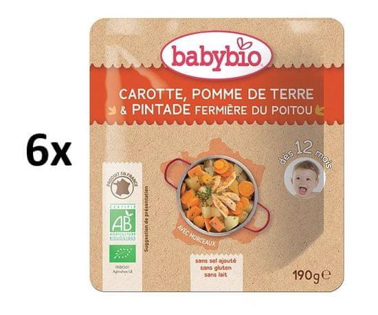 Babybio Mrkev a brambory s farmářskou perličkou 6 x 190 g