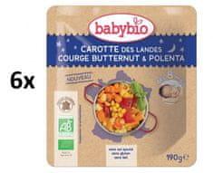 Babybio Mrkev s máslovou dýní a polentou 6x190 g