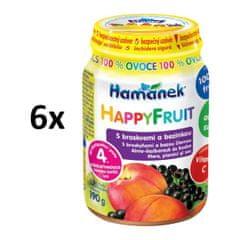 Hamánek HAPPYFRUIT 100 % gyümölcs sárgabarackkal és bodzával 6x190g