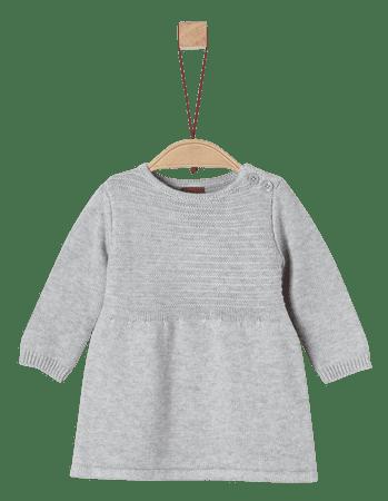 s.Oliver dívčí šaty 50/56 šedá