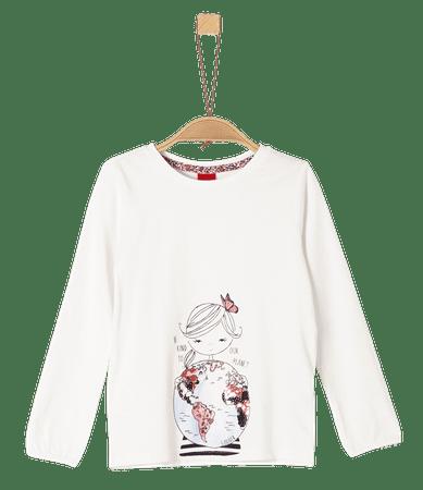 s.Oliver dívčí tričko 92 - 98 smetanová