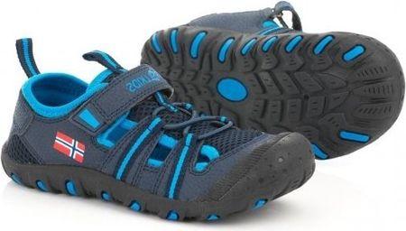 Trollkids chlapecké sandály Kids Sandefjord modrá 35